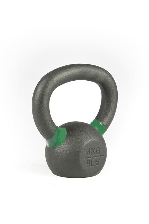 Cast Iron Powdercoated Kettlebell 4KG