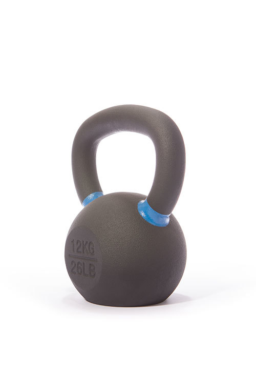 Cast Iron Powdercoated Kettlebell 12KG