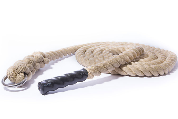 Climbing rope 35mm natural with black end 4 meter