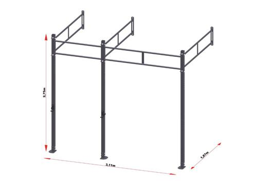 PRO Workout Rig Wallmount 300 cm