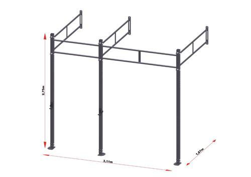 PRO Workout Rig Wandbevestigd 300 cm