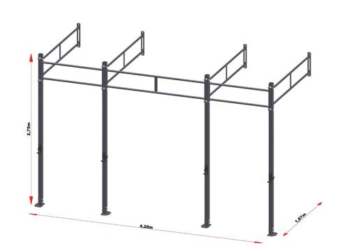 PRO Workout Rig Wallmount 420 cm