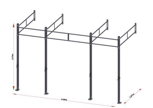 PRO Workout Rig Wandbevestigd 420 cm