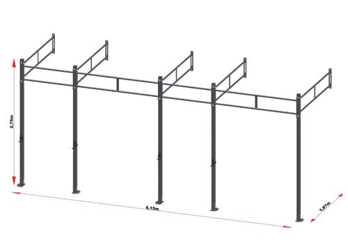 PRO Workout Rig Wandbevestigd 600 cm