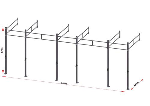 PRO Workout Rig Wallmount 720 cm