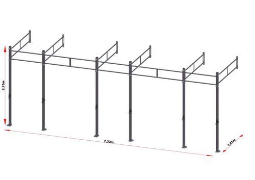 PRO Workout Rig Wandbevestigd 720 cm