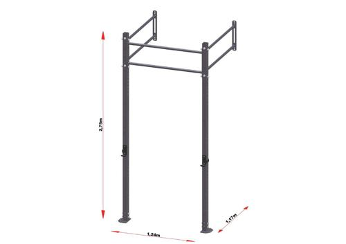 PRO Workout Rig Wandbevestigd 120 cm Short Version