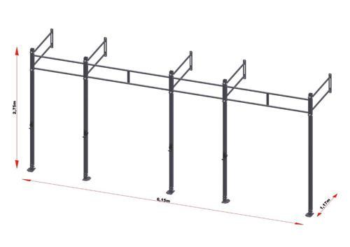 PRO Workout Rig Wallmount 600 cm Short Version