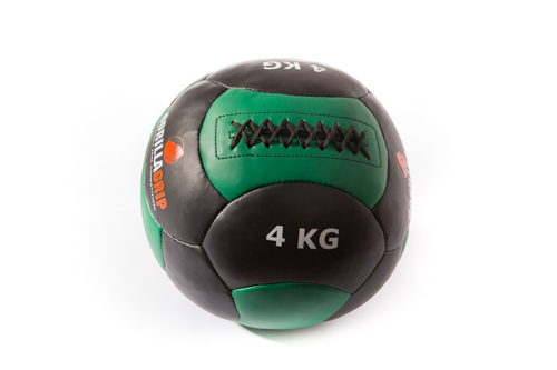 Leather wallball 4kg black/green