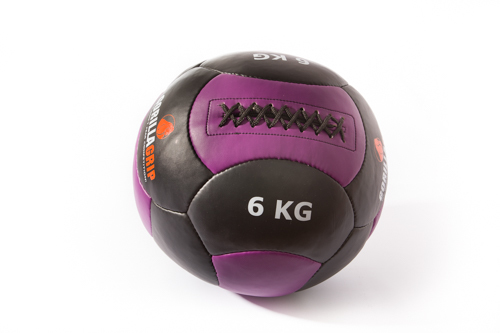 Leather wallball 6kg black/purple