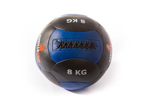 Leather wallball 8kg black/blue