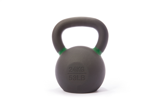 Cast Iron Powdercoated Kettlebell 24KG