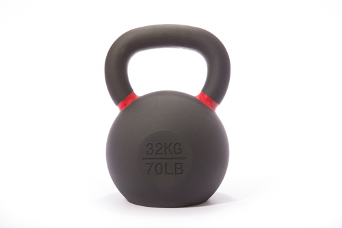 Cast Iron Powdercoated Kettlebell 32KG