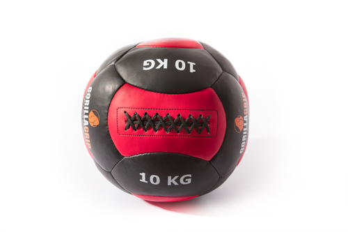 Leather wallball 10kg black/Red