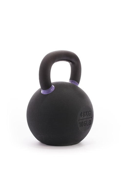 Cast Iron Powdercoated Kettlebell 48KG