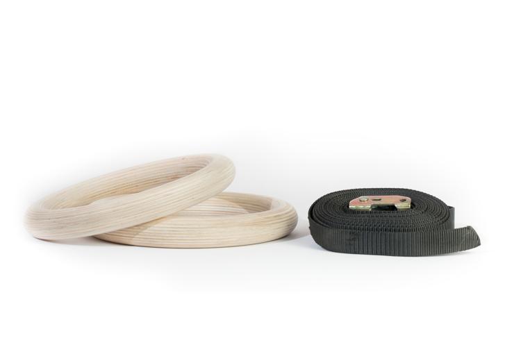 Wooden Gym Ring Set