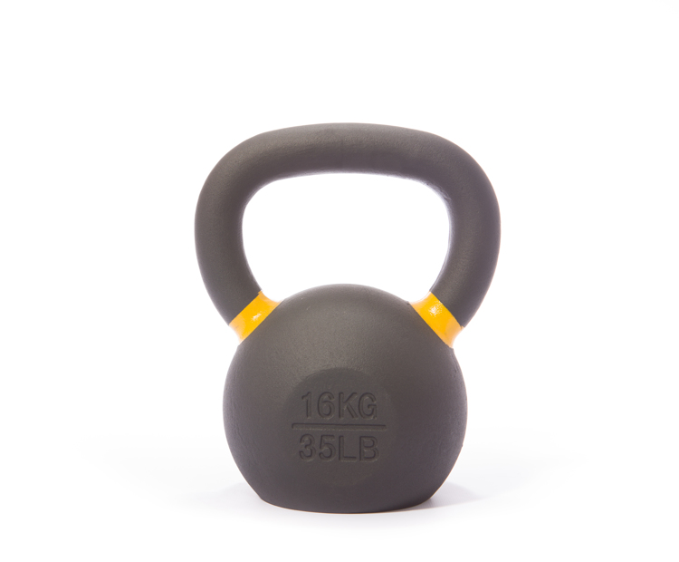 Cast Iron Powdercoated Kettlebell 16KG