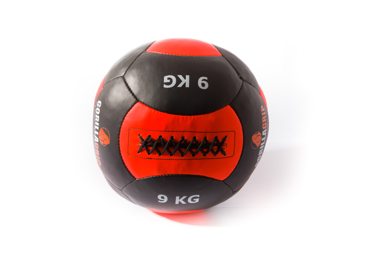 Leather wallball 9kg black/orange