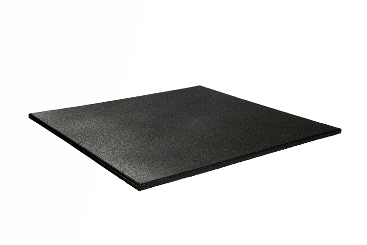 Standaard Rubber Granulaat Tegel 20mm - ZWART