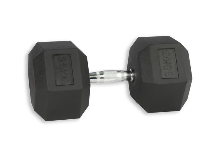 Rubber hex dumbell 35 kg