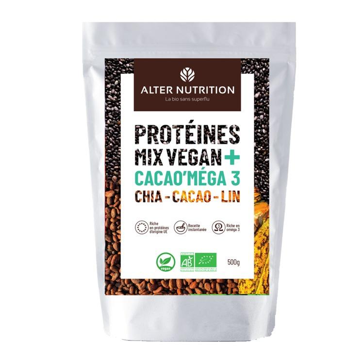 Bio Vegan Protein  Mix Chia - Cacao - Lentils