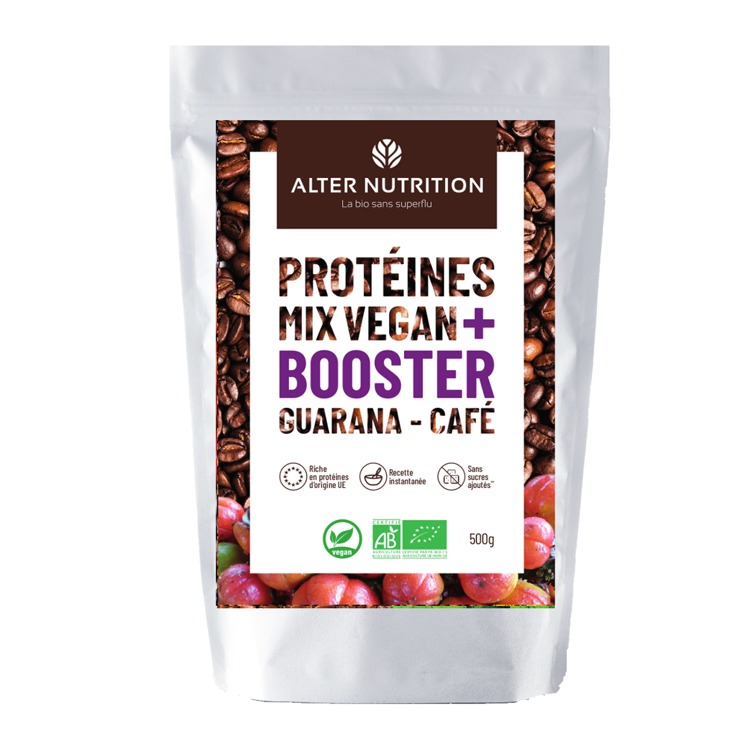 Bio Vegan Proteïne Mix Guarana - Koffie