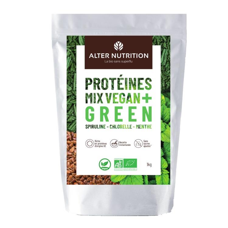 Bio Vegan Proteïne Mix Chlorella - Spirulina - Munt