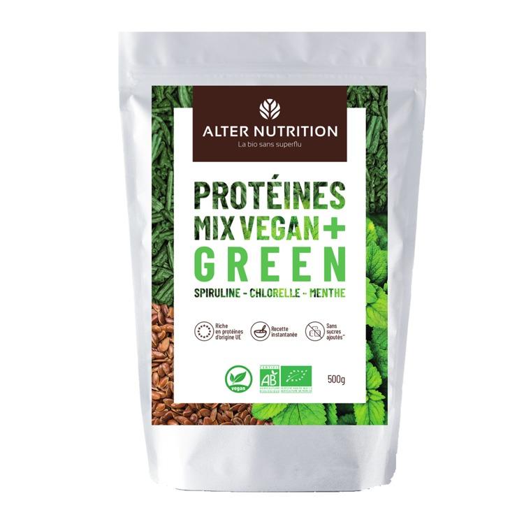 Bio Vegan Protei Mix Chlorella - Spirulina - Munt