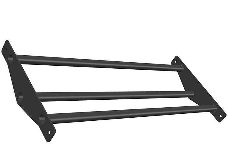 Storage Triple bar Bumperplates 1m